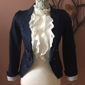 H&M Military Style Navy Jacket Size 2